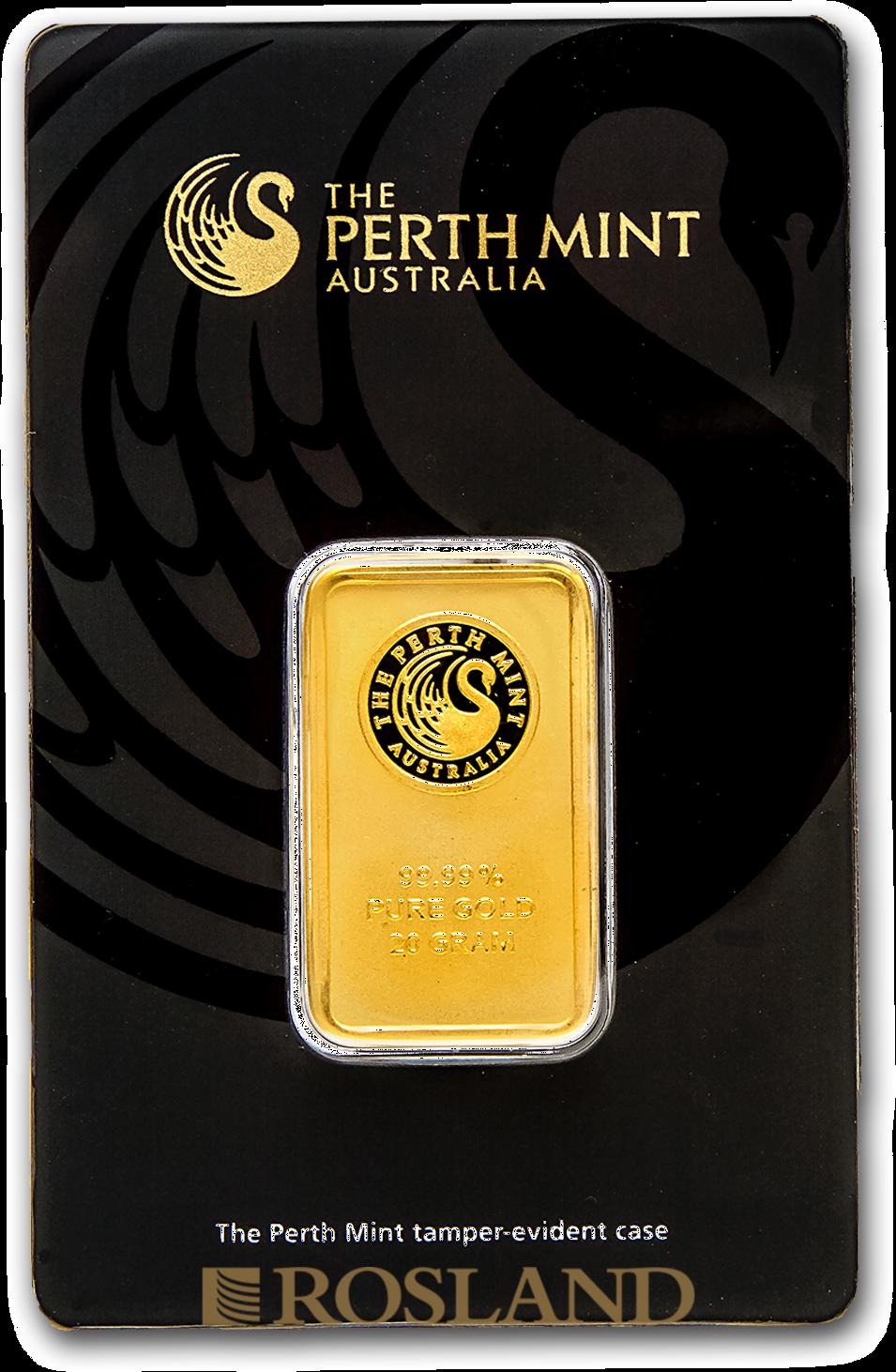 20 Gramm Goldbarren Perth Mint