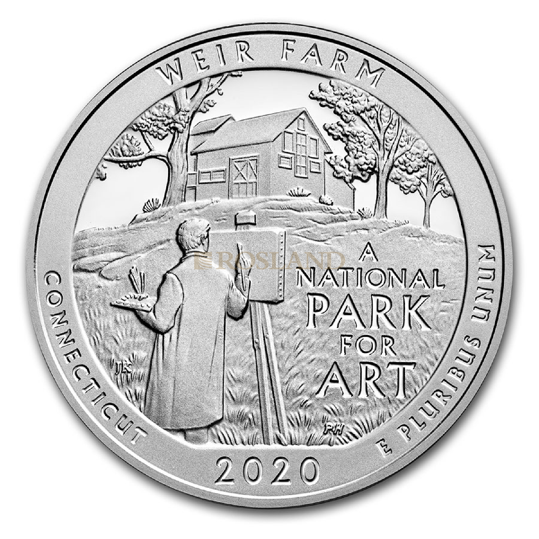 5 Unzen Silbermünze ATB Weir Farm National Historic Site 2020