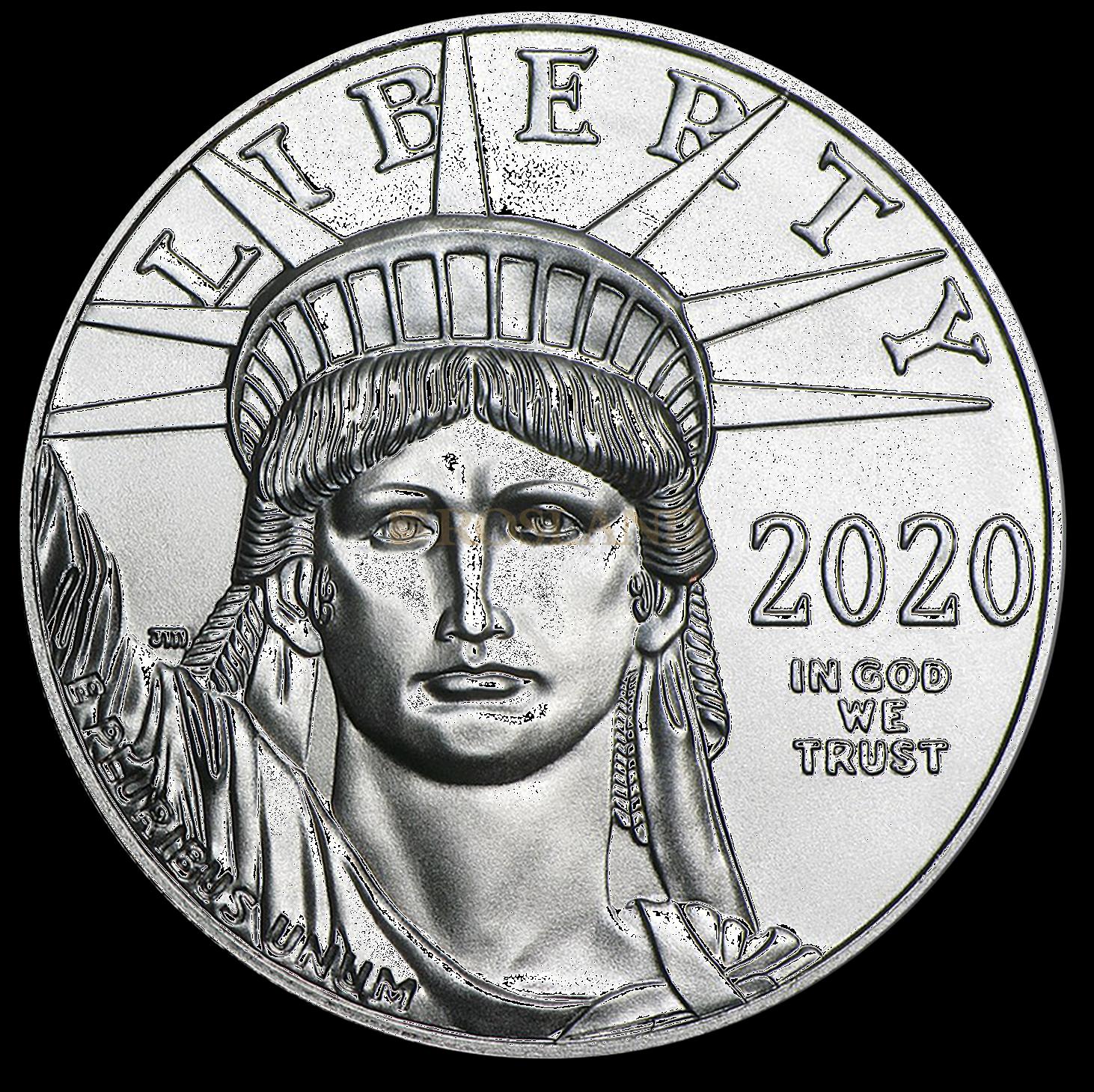 1 Unze Platinmünze American Eagle 2020