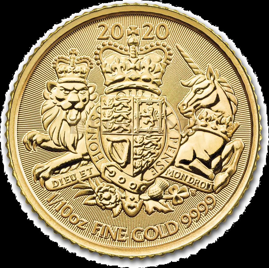 1/10 Unze Goldmünze Great Britain The Royal Arms 2020