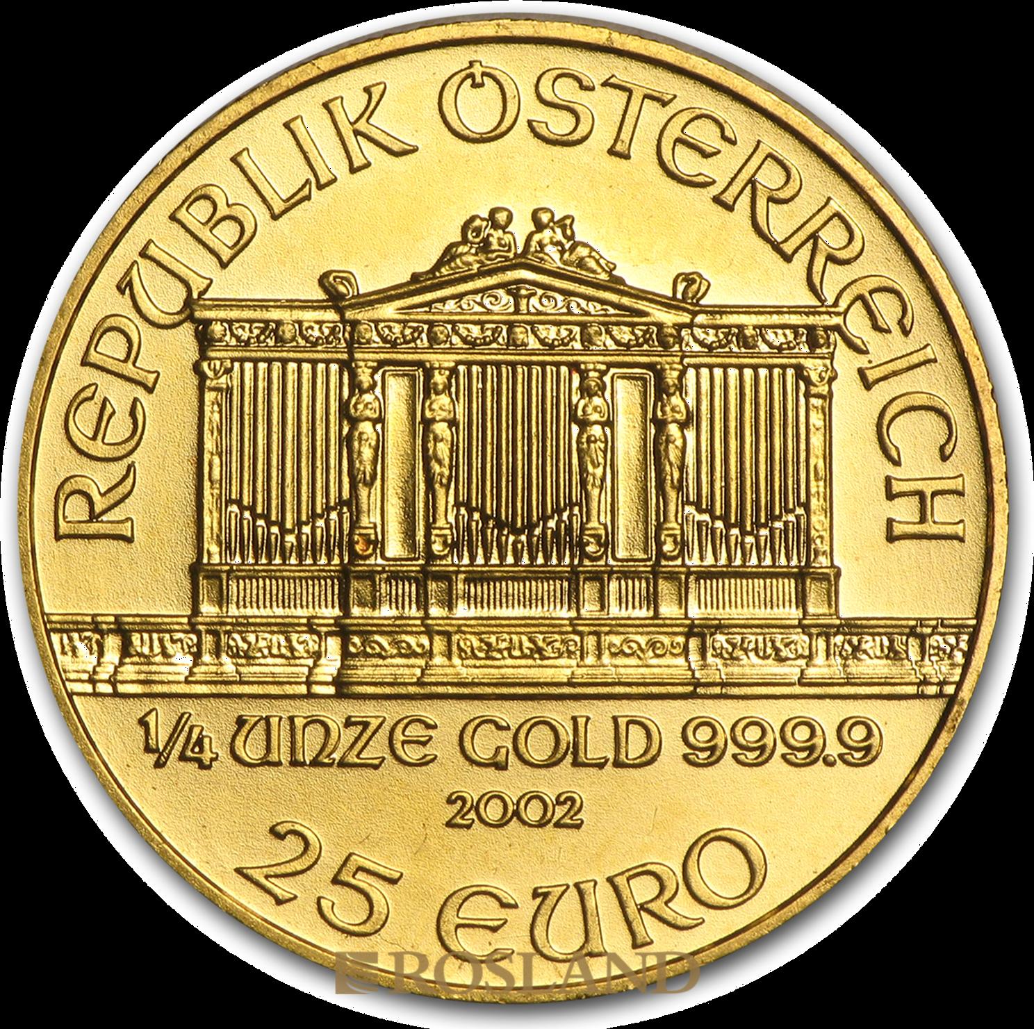 1/4 Unze Goldmünze Wiener Philharmoniker 2002