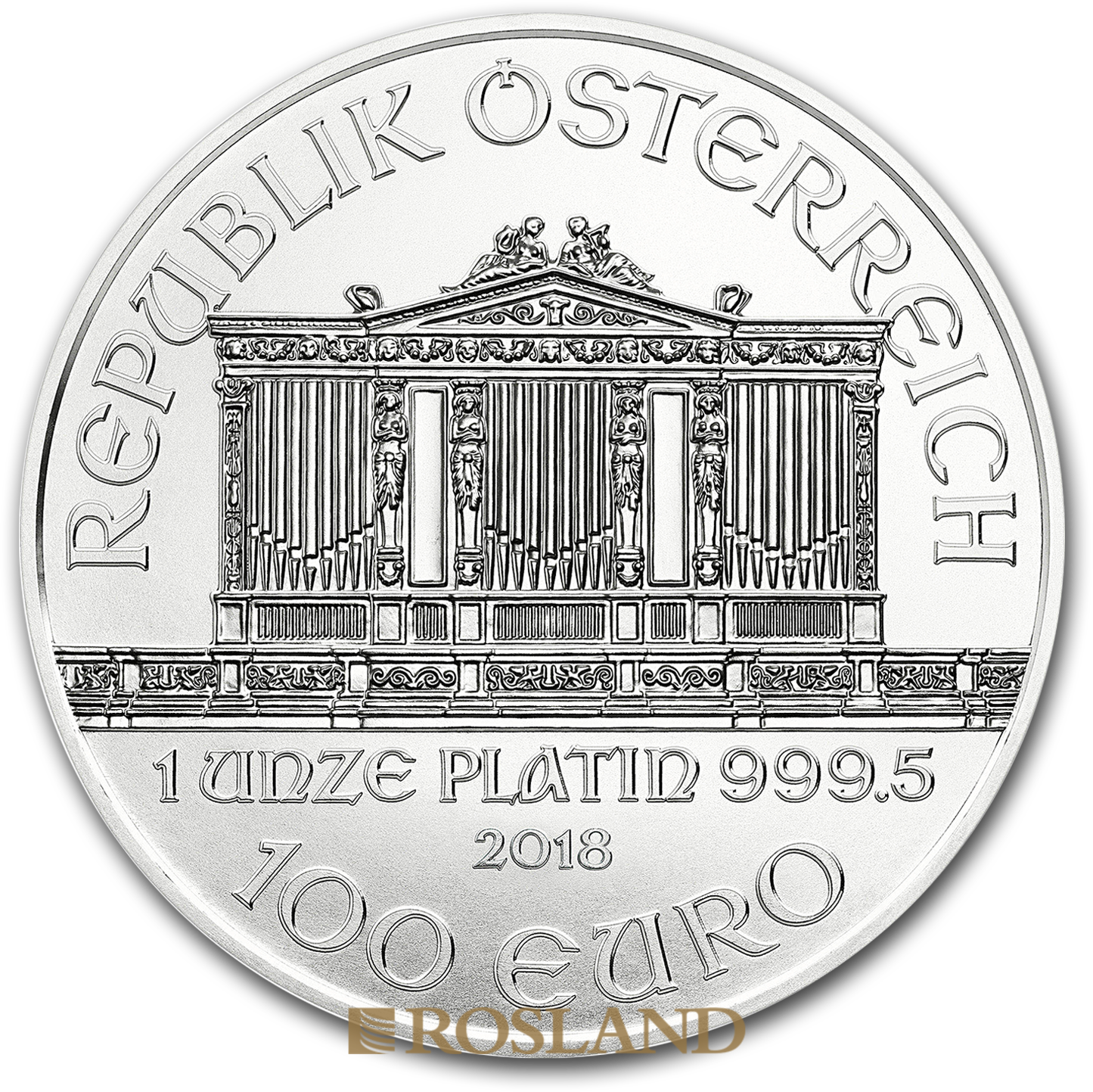 1 Unze Platinmünze Wiener Philharmoniker 2018