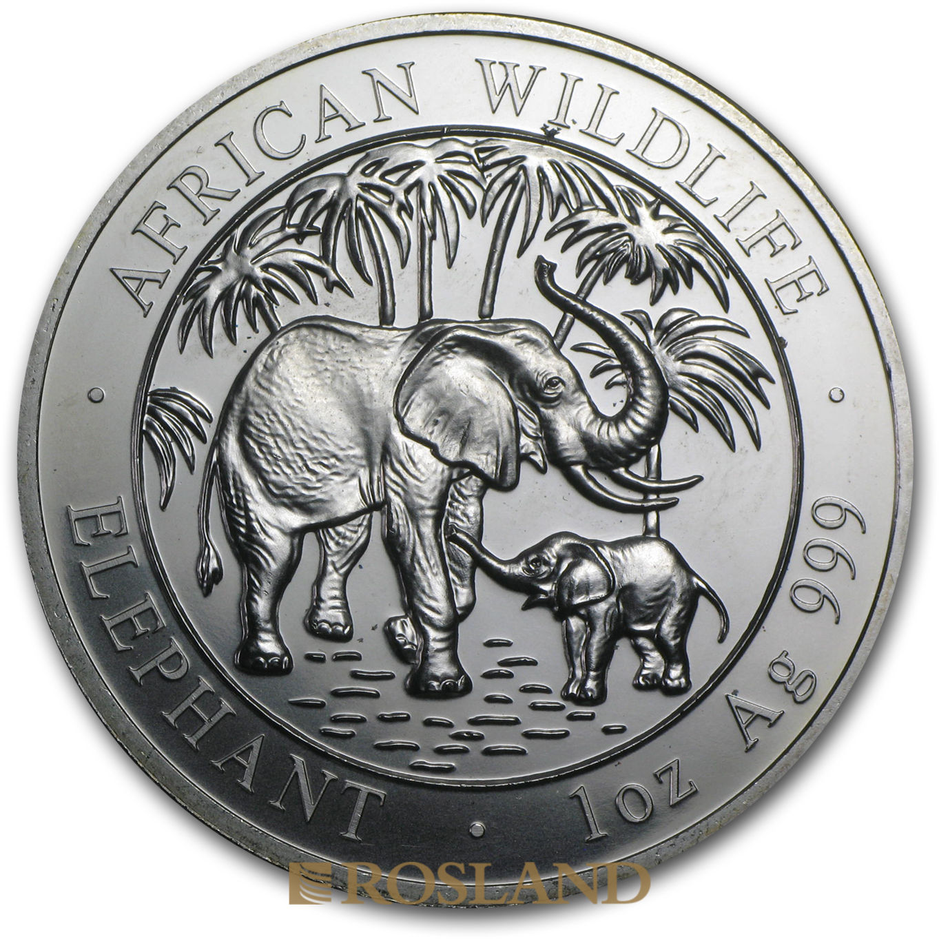 1 Unze Silbermünze Somalia Elefant 2007