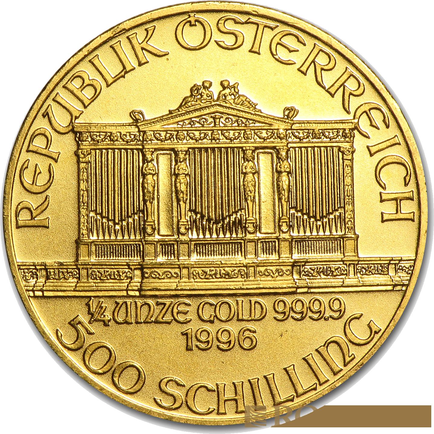 1/4 Unze Goldmünze Wiener Philharmoniker 1996