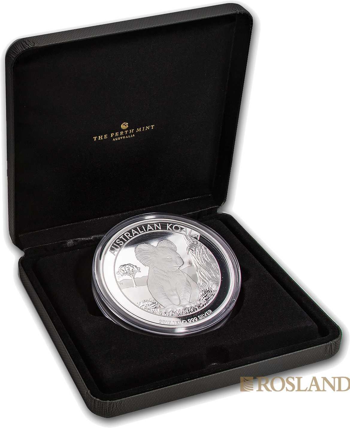 1 Kilogramm Silbermünze Koala 2017 PP (Box, Zertifikat)