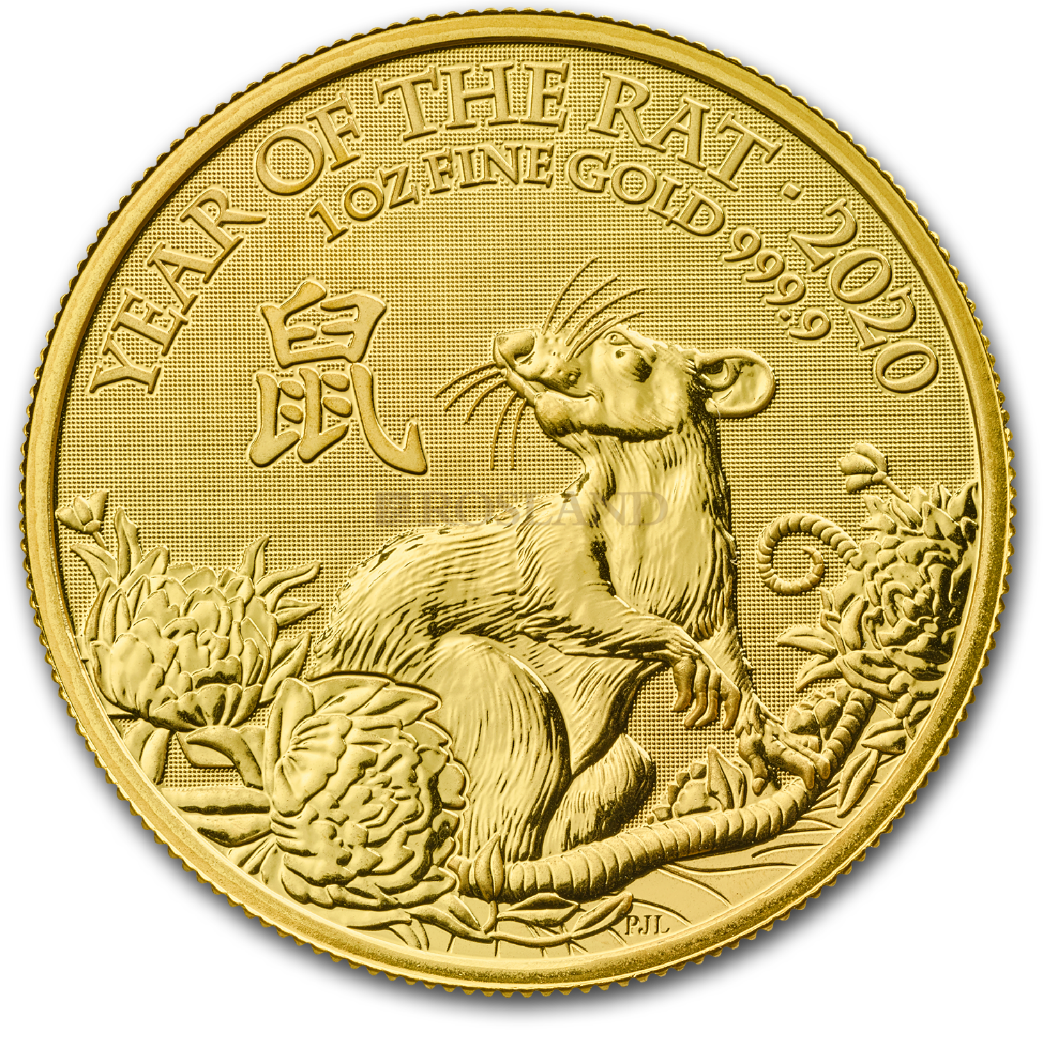 1 Unze Goldmünze Großbritannien Lunar Ratte 2020