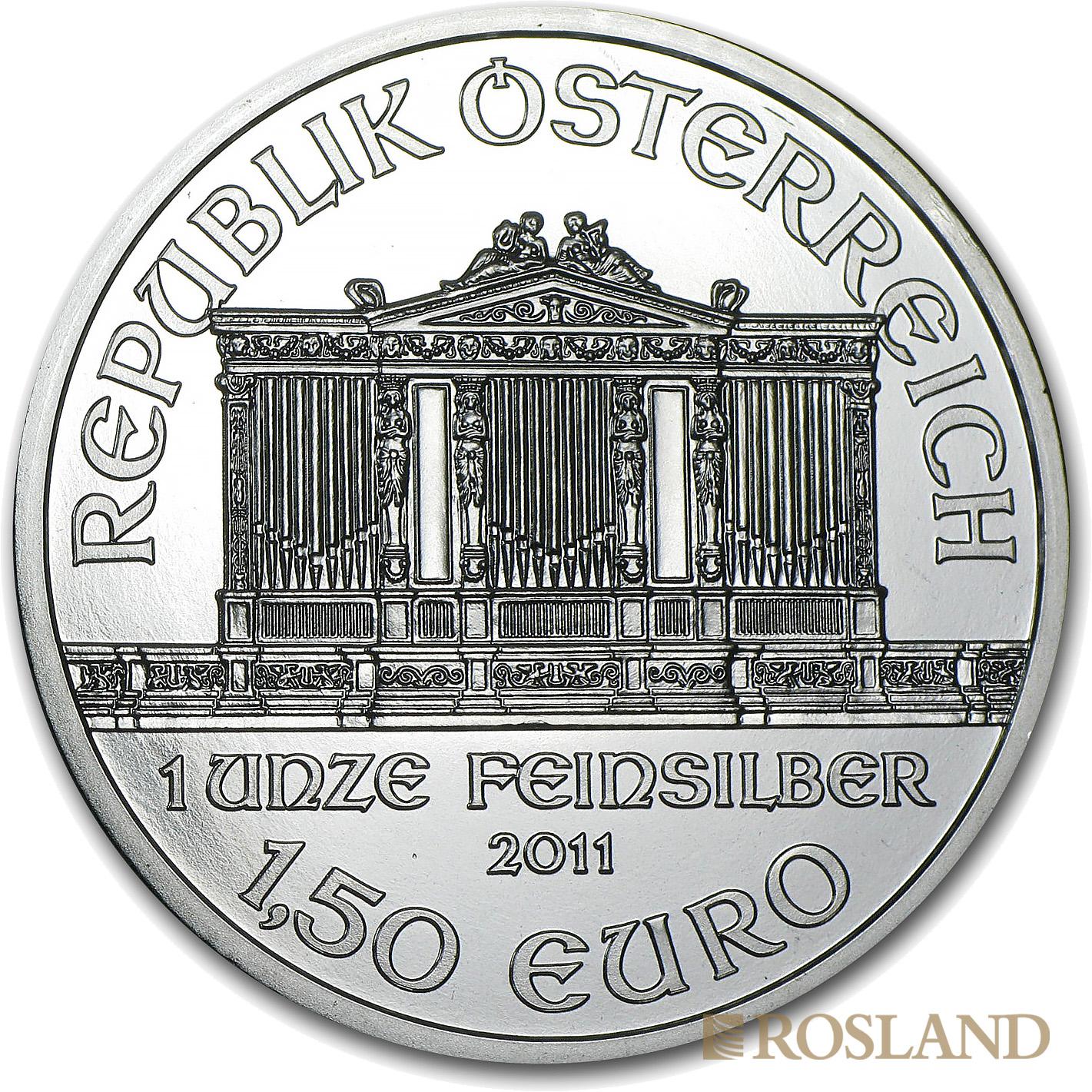 1 Unze Silbermünze Wiener Philharmoniker 2011