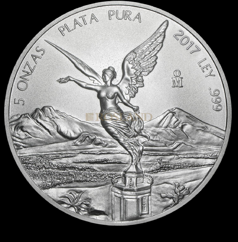 5 Unzen Silbermünze Mexican Libertad 2017