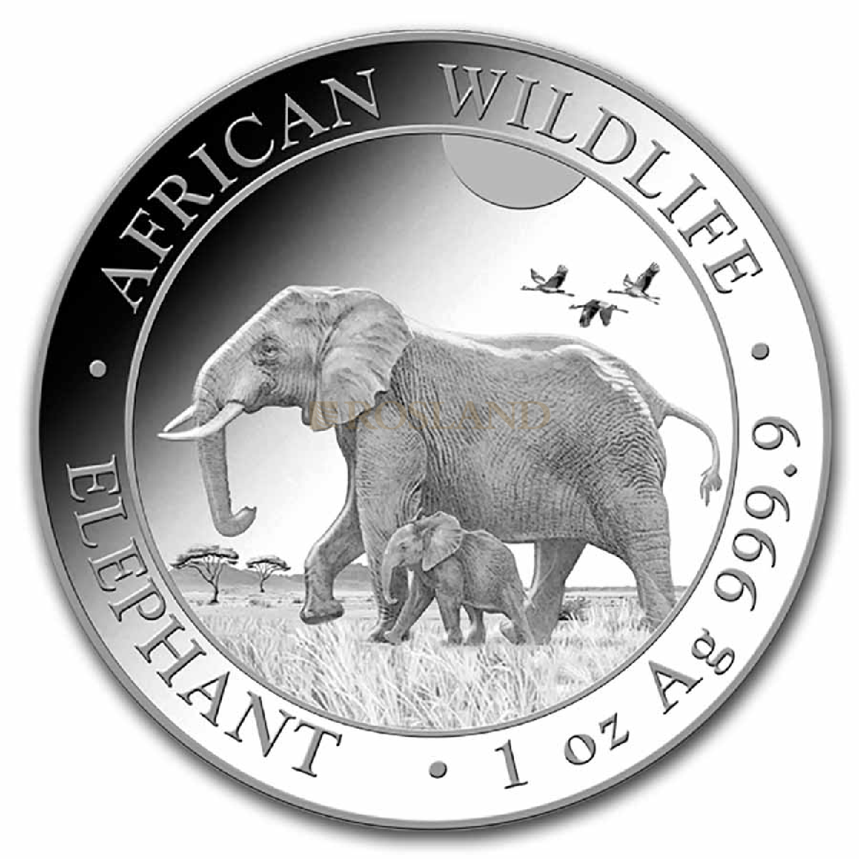 1 Unze Silbermünze Somalia Elefant 2022
