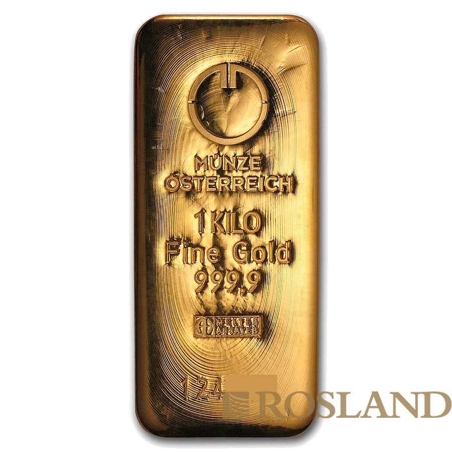 1 Kilogramm Goldbarren Münze Österreich (Gussbarren)
