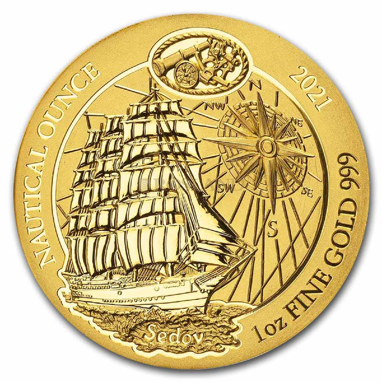 1 Unze Goldmünze Ruanda Nautical Sedov 2021