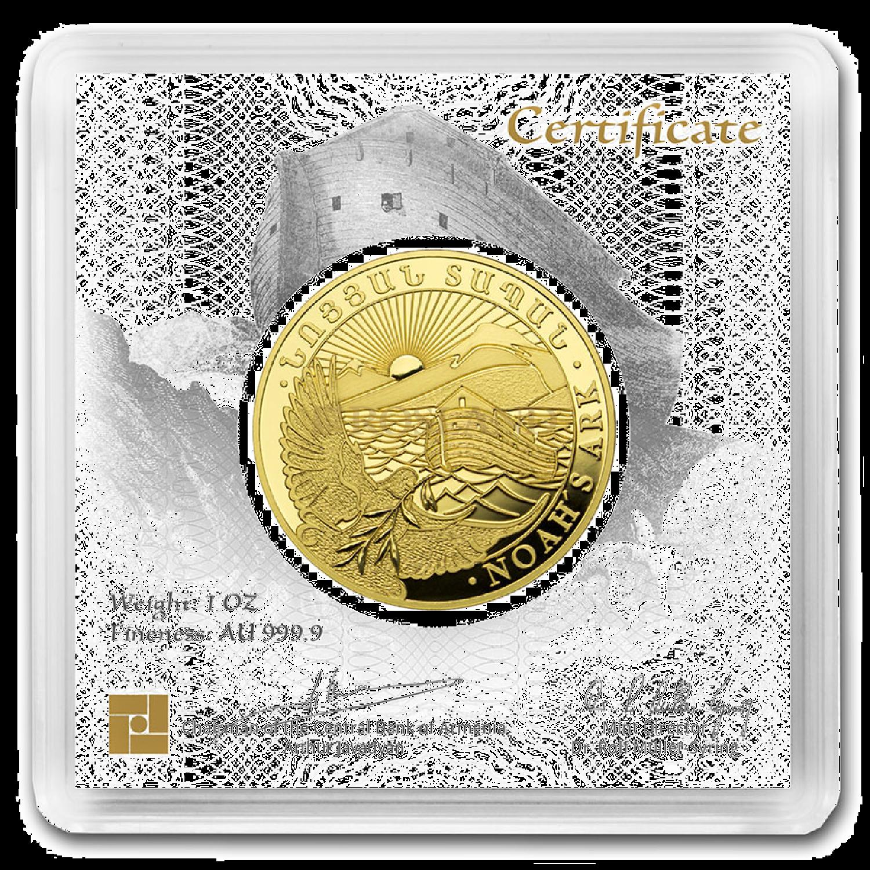 1 Unzen Goldmünze Armenien Arche Noah 2020 (Box, Zertifikat)