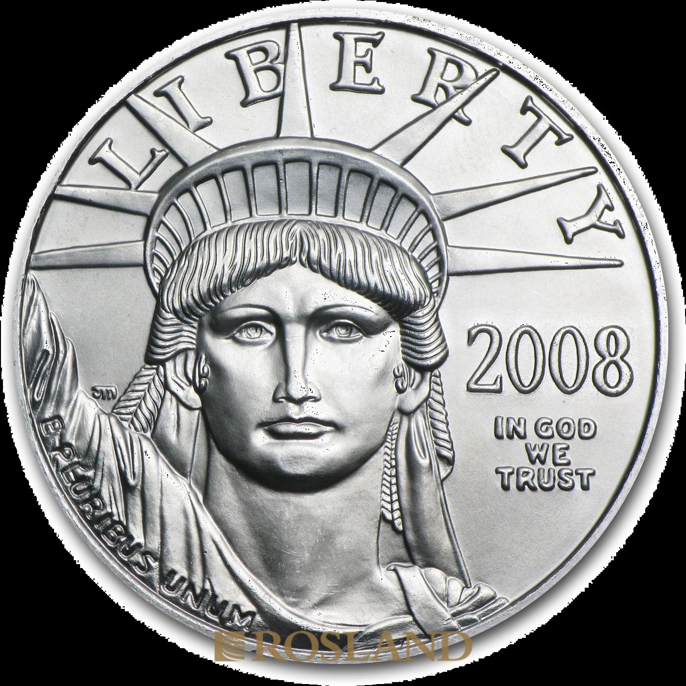1/10 Unze Platinmünze American Eagle 2008