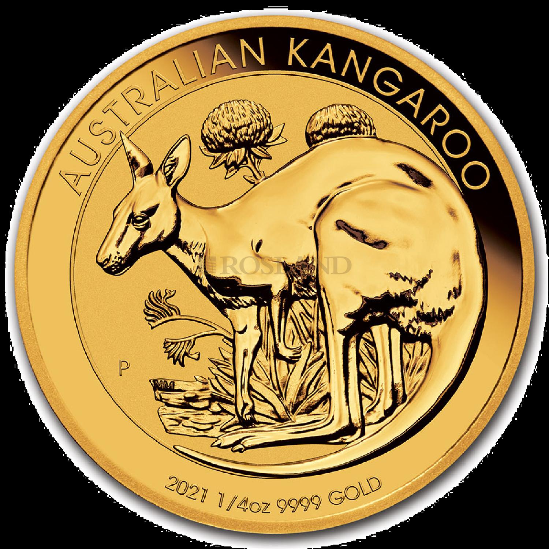 1/4 Unze Goldmünze Australien Känguru 2021