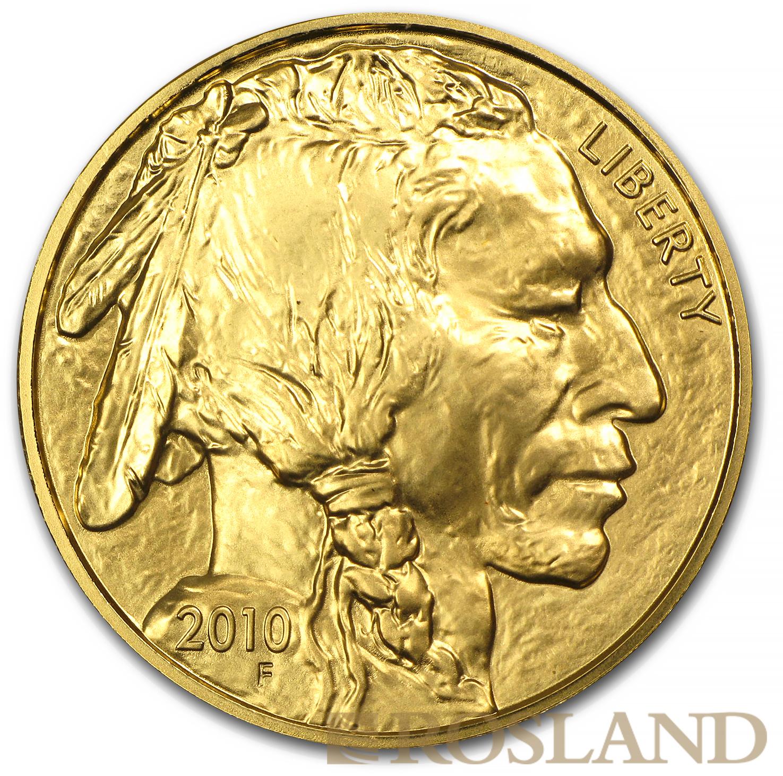 1 Unze Goldmünze American Buffalo 2010