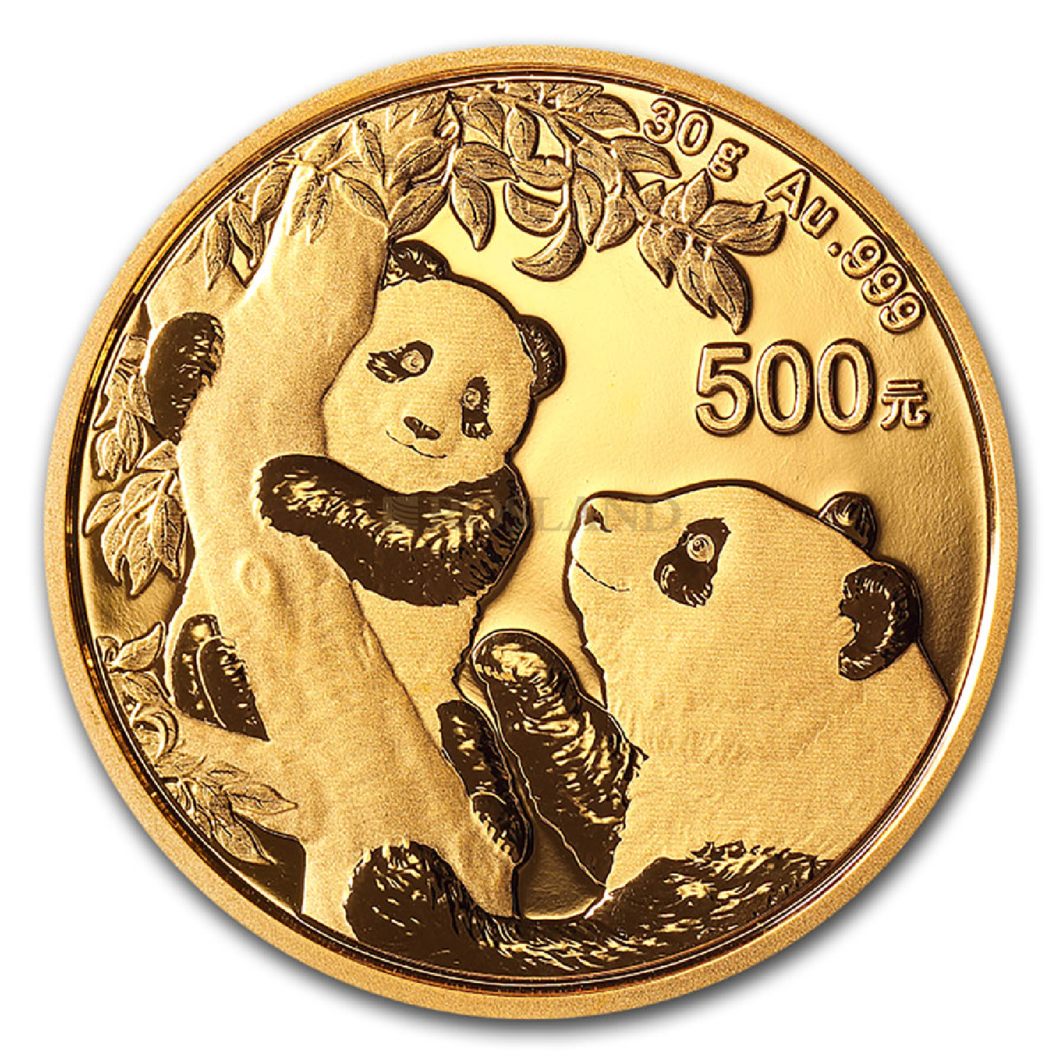 30 Gramm Goldmünze China Panda 2021