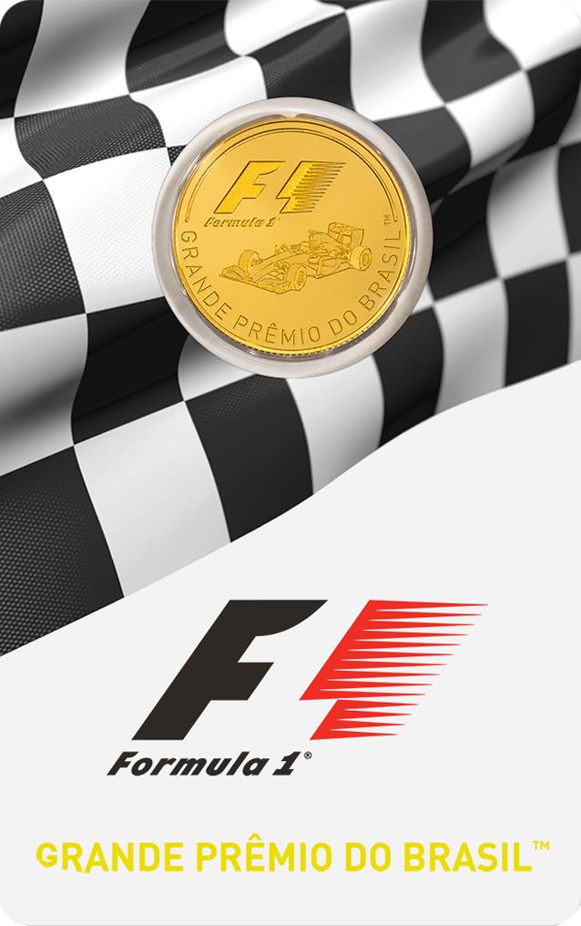 1/4 Unze Goldmünze Formel 1® Grande Prêmio do Brasil GP™ PP (Box, Zertifikat)