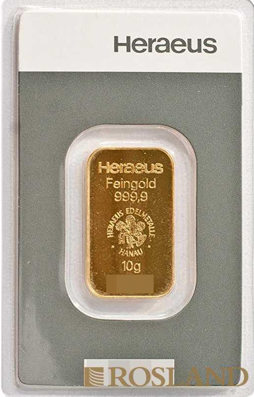 10 Gramm Goldbarren Heraeus Kinebar®