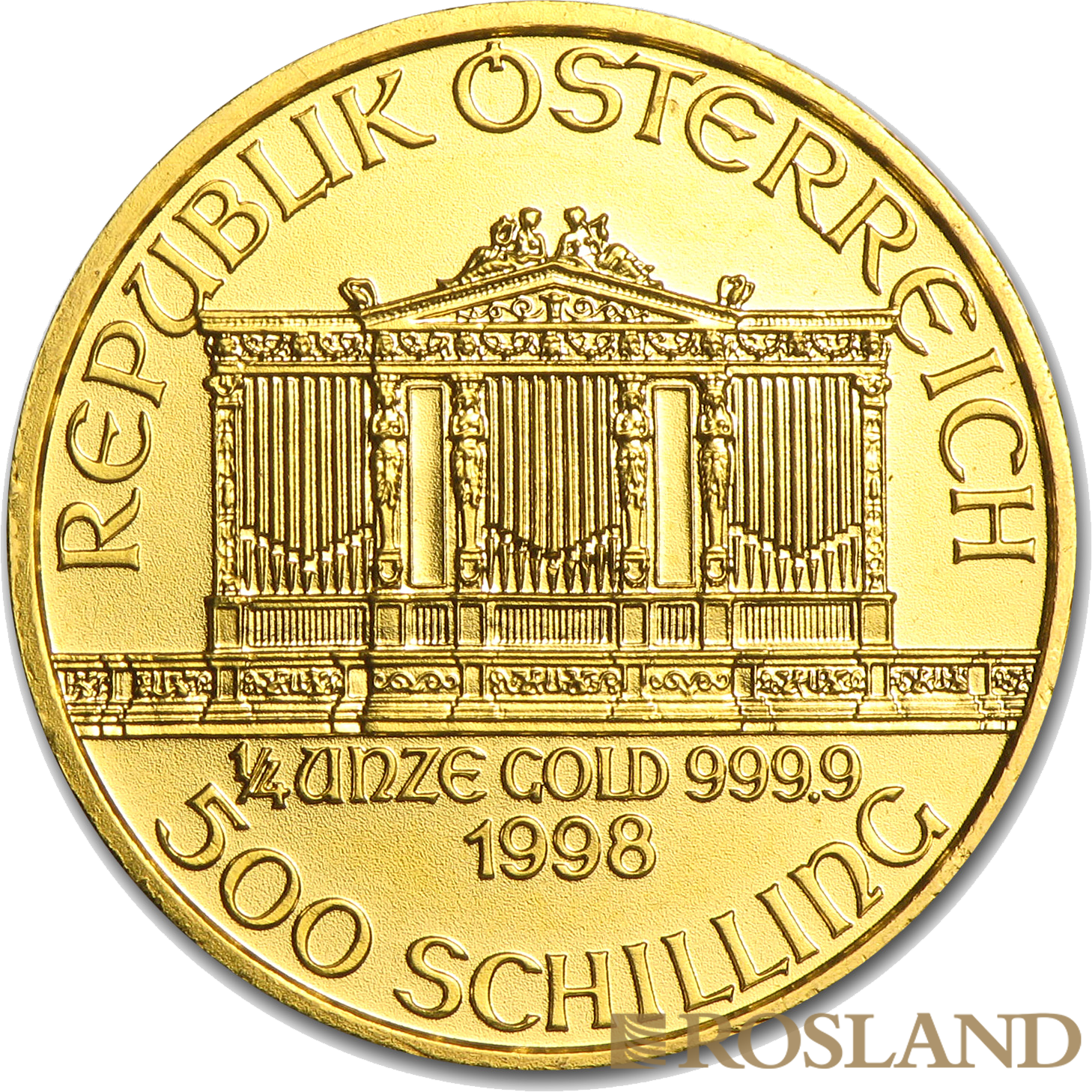 1/4 Unze Goldmünze Wiener Philharmoniker 1998