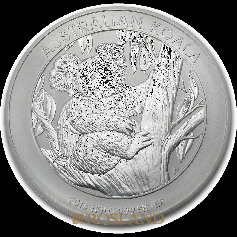 1 Kilogramm Silbermünze Koala 2013