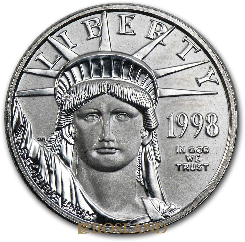 1/4 Unze Platinmünze American Eagle 1998