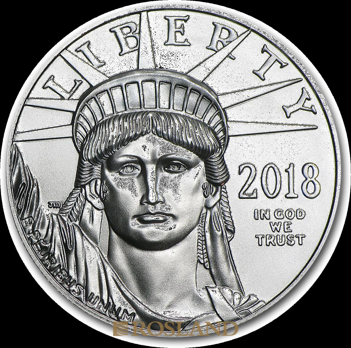 1 Unze Platinmünze American Eagle 2018