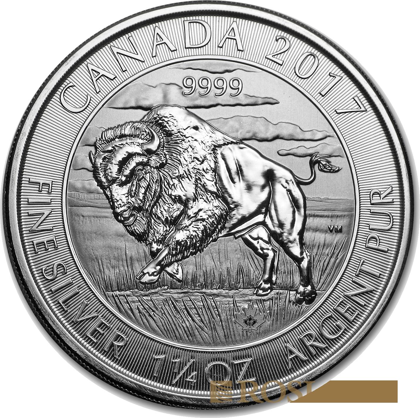 1.25 Unzen Silbermünze Canada Bison 2017