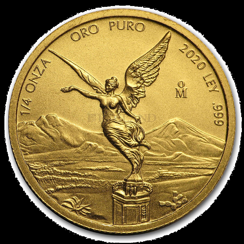 1/4 Unze Goldmünze Mexican Libertad 2020