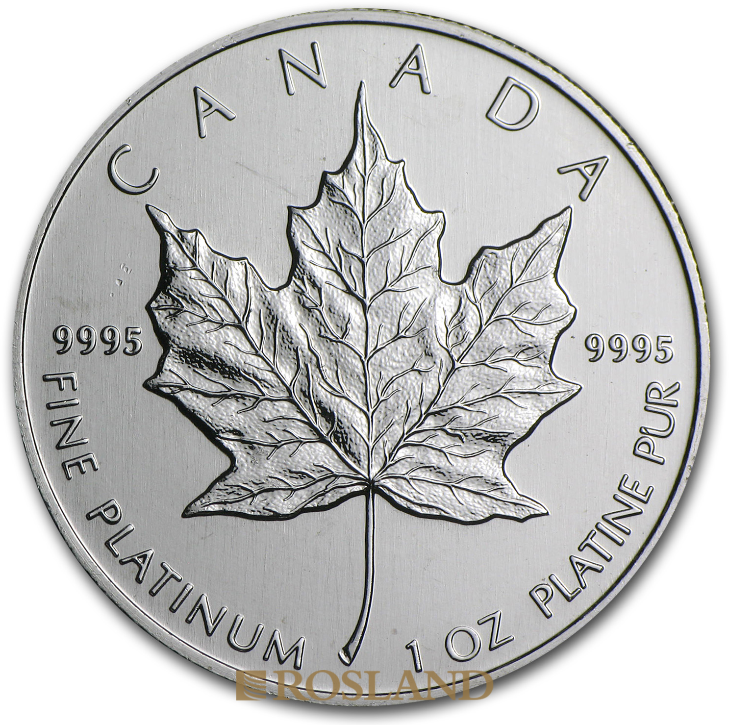 1 Unze Platinmünze Kanada Maple Leaf 1988