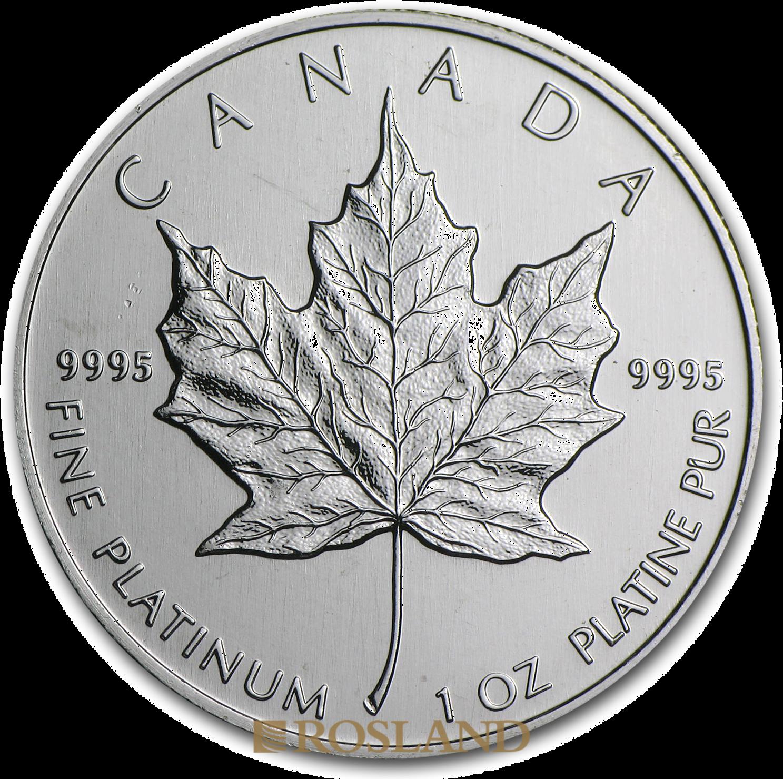 1 Unze Platinmünze Kanada Maple Leaf 1988