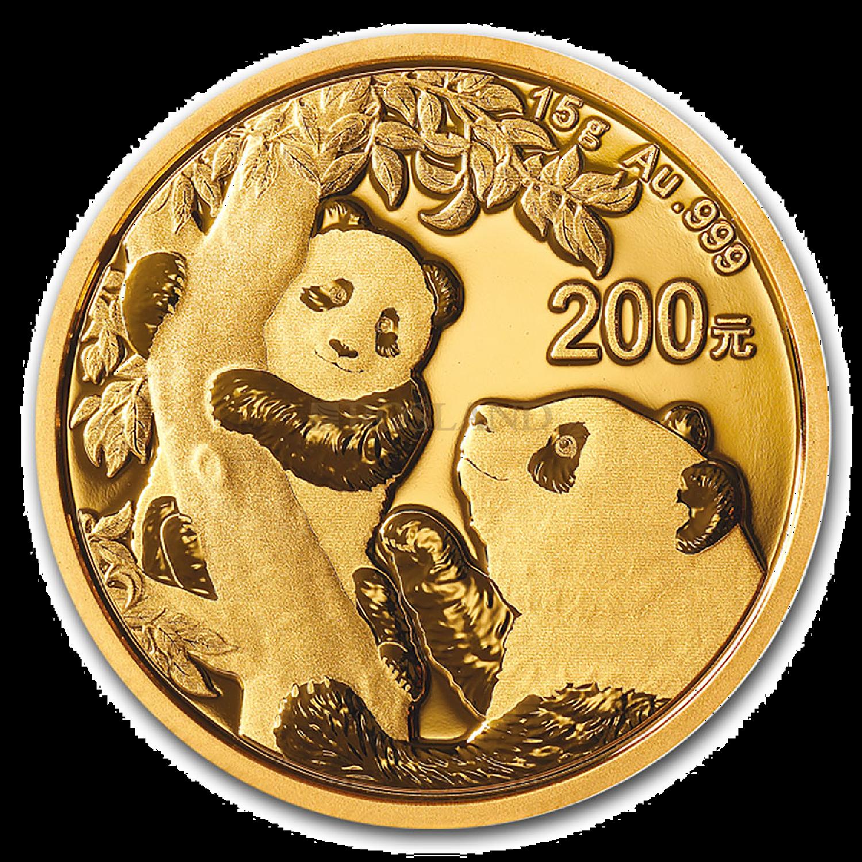 15 Gramm Goldmünze China Panda 2021