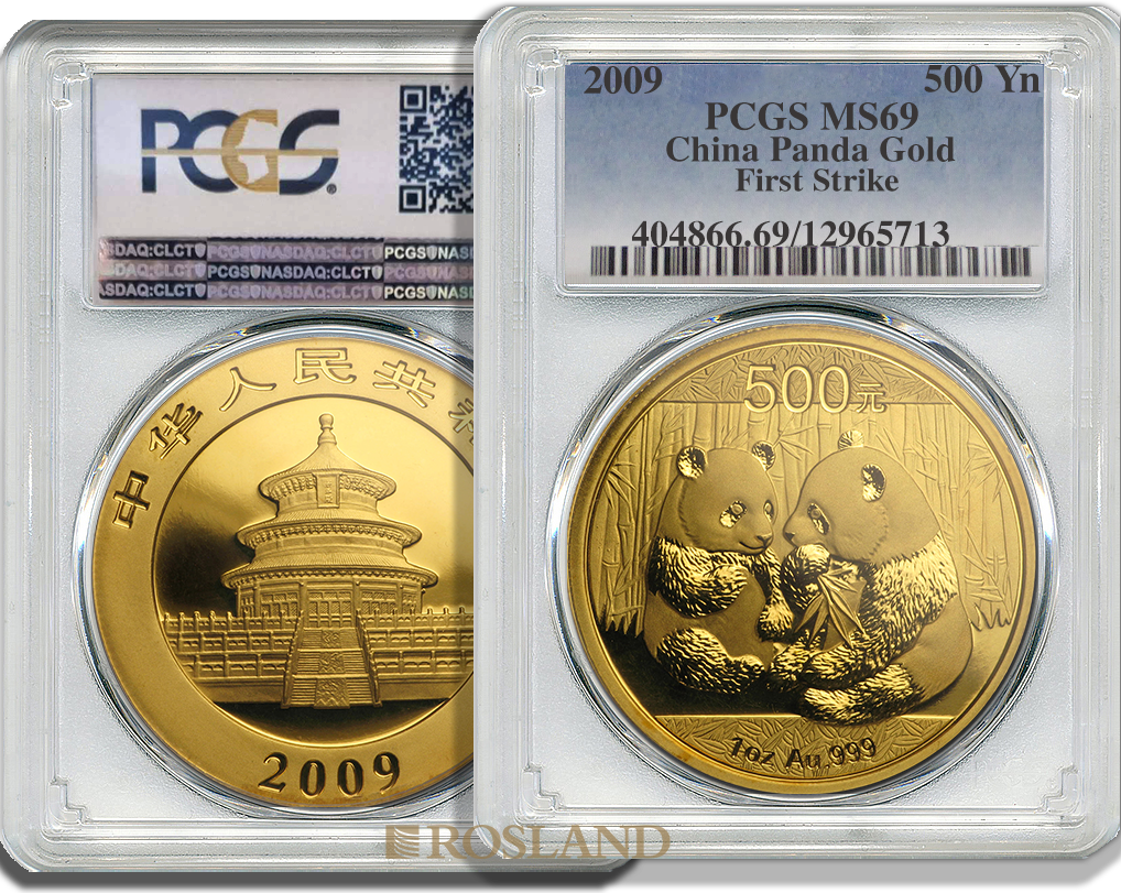 1 Unze Goldmünze China Panda 2009 PCGS MS-69 First Strike