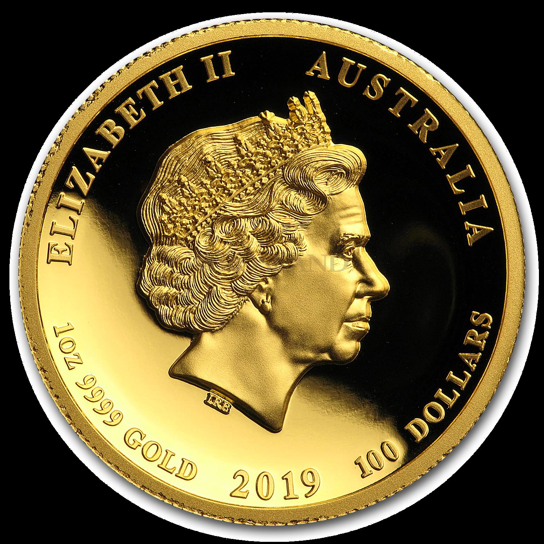 1 Unze Goldmünze Australien Lunar 2 Schwein 2019 PP PCGS PR-70 (DCAM, High Relief)