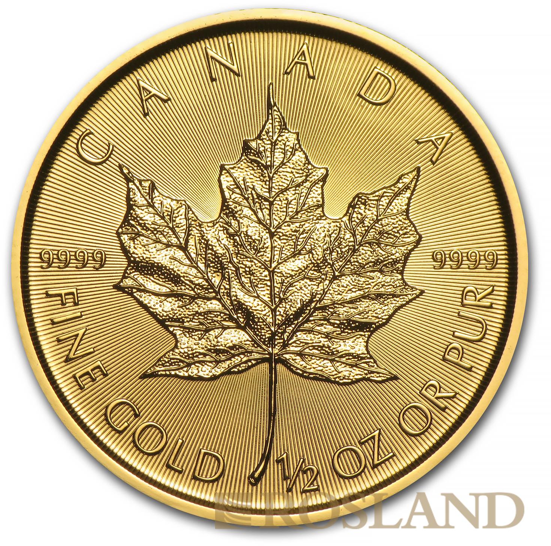 1/2 Unze Goldmünze Kanada Maple Leaf 2016