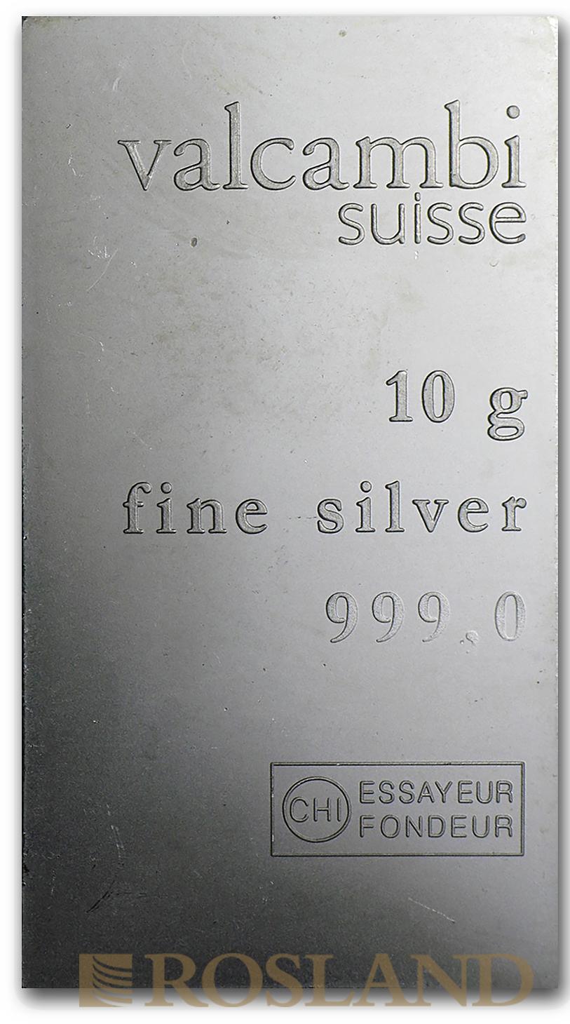 10 Gramm Silberbarren Valcambi