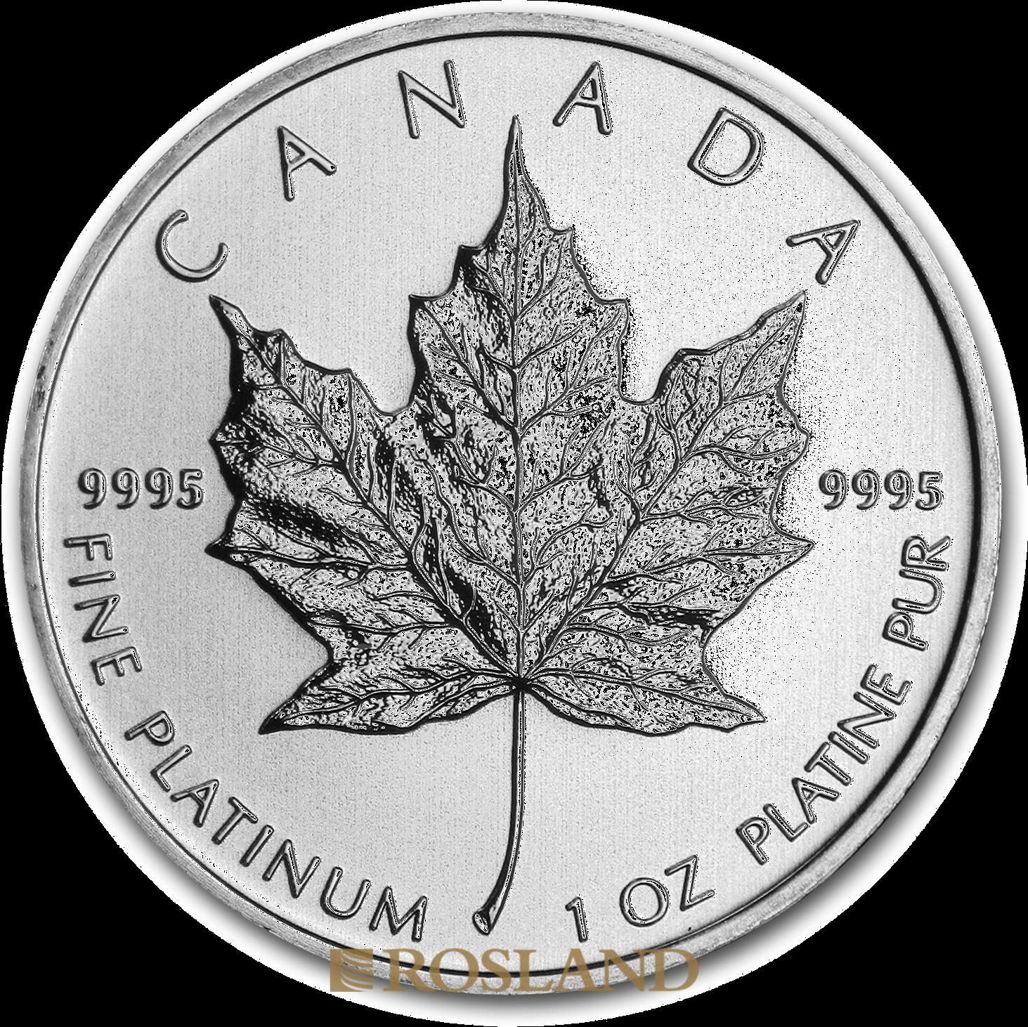 1 Unze Platinmünze Kanada Maple Leaf 2012