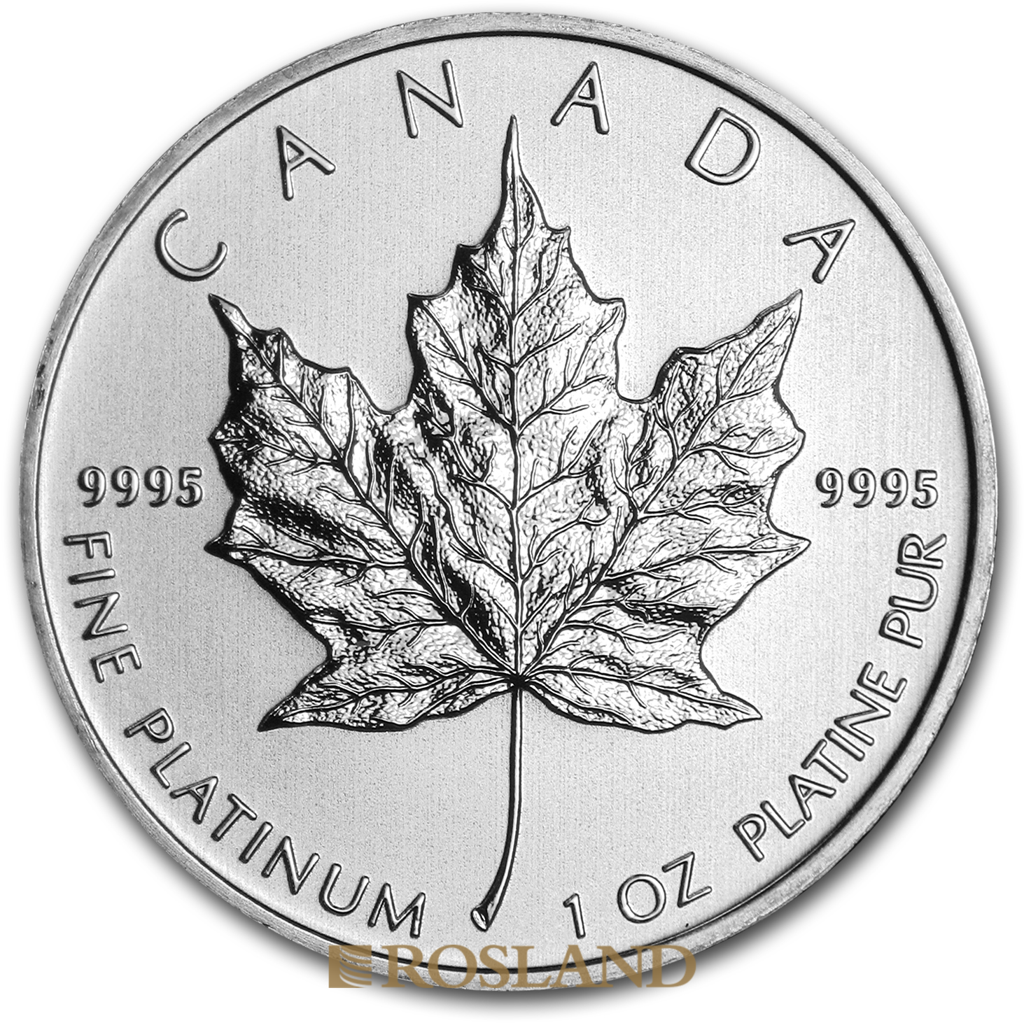 1 Unze Platinmünze Kanada Maple Leaf 2012
