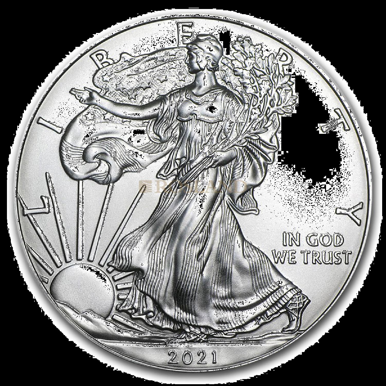 1 Unze Silbermünze American Eagle 2021