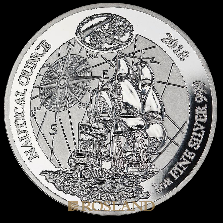 1 Unze Silbermünze Ruanda Nautical Endeavour 2018 PP