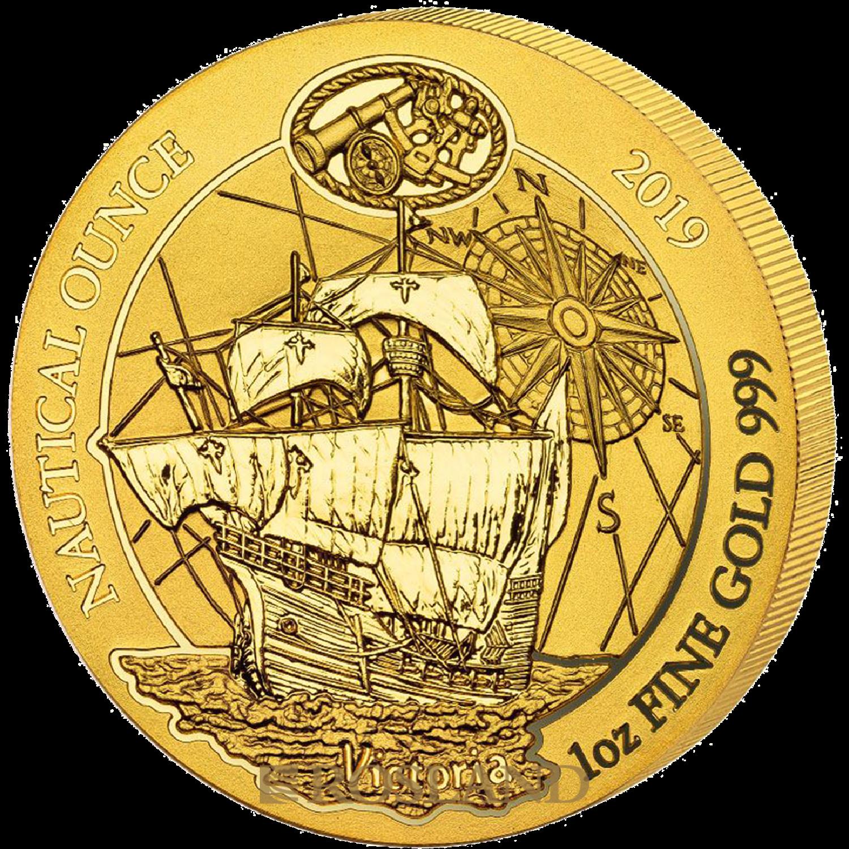 1 Unze Goldmünze Ruanda Nautical Victoria 2019
