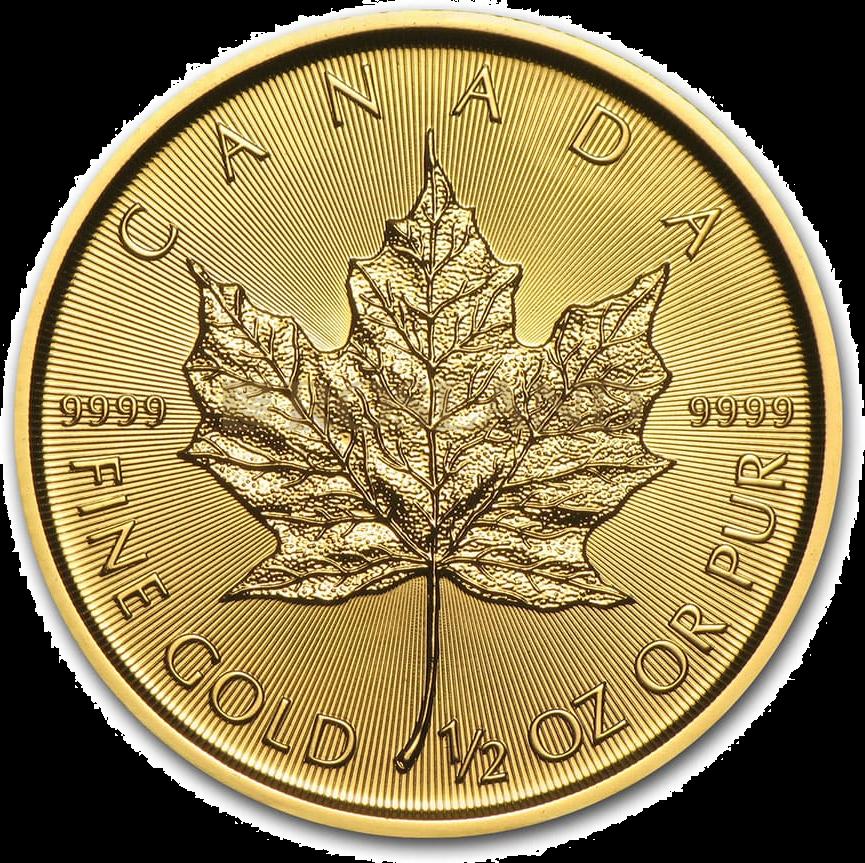 1/2 Unze Goldmünze Kanada Maple Leaf 2020