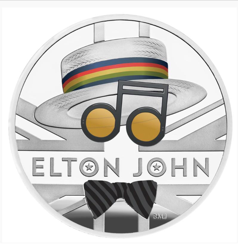 1 Unze Silbermünze GB Musiklegenden - Elton John 2020 PP (Box, Koloriert)