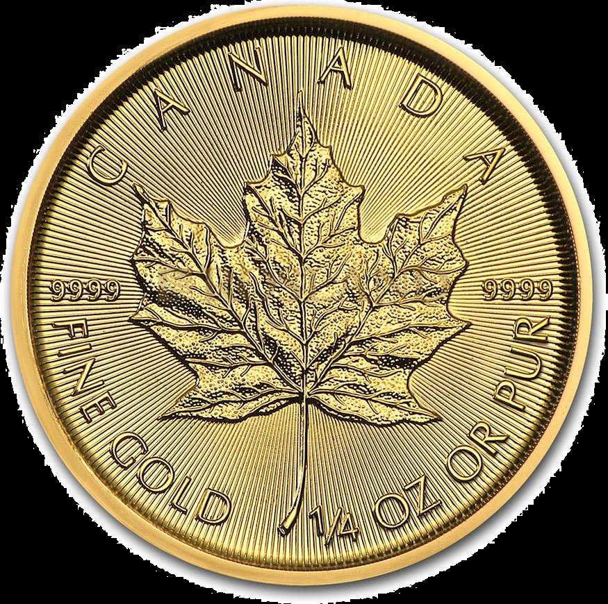 1/4 Unze Goldmünze Kanada Maple Leaf 2020
