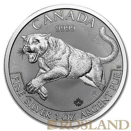 1 Unze Silbermünze Kanada Predator Serie Puma 2016