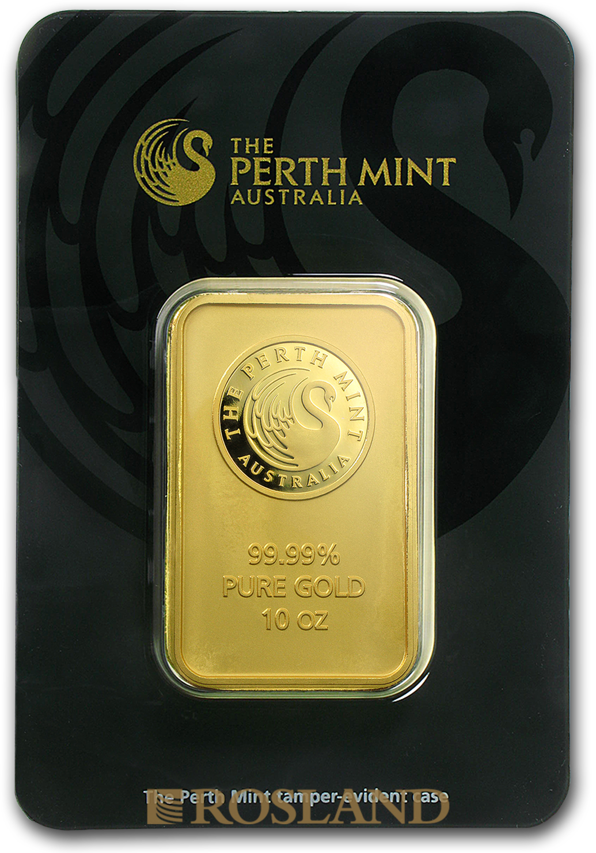 10 Unzen Goldbarren Perth Mint