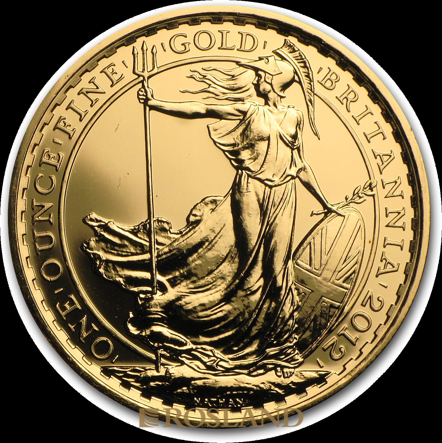1 Unze Goldmünze Britannia 2012 - 25 Jahre Jubiläum