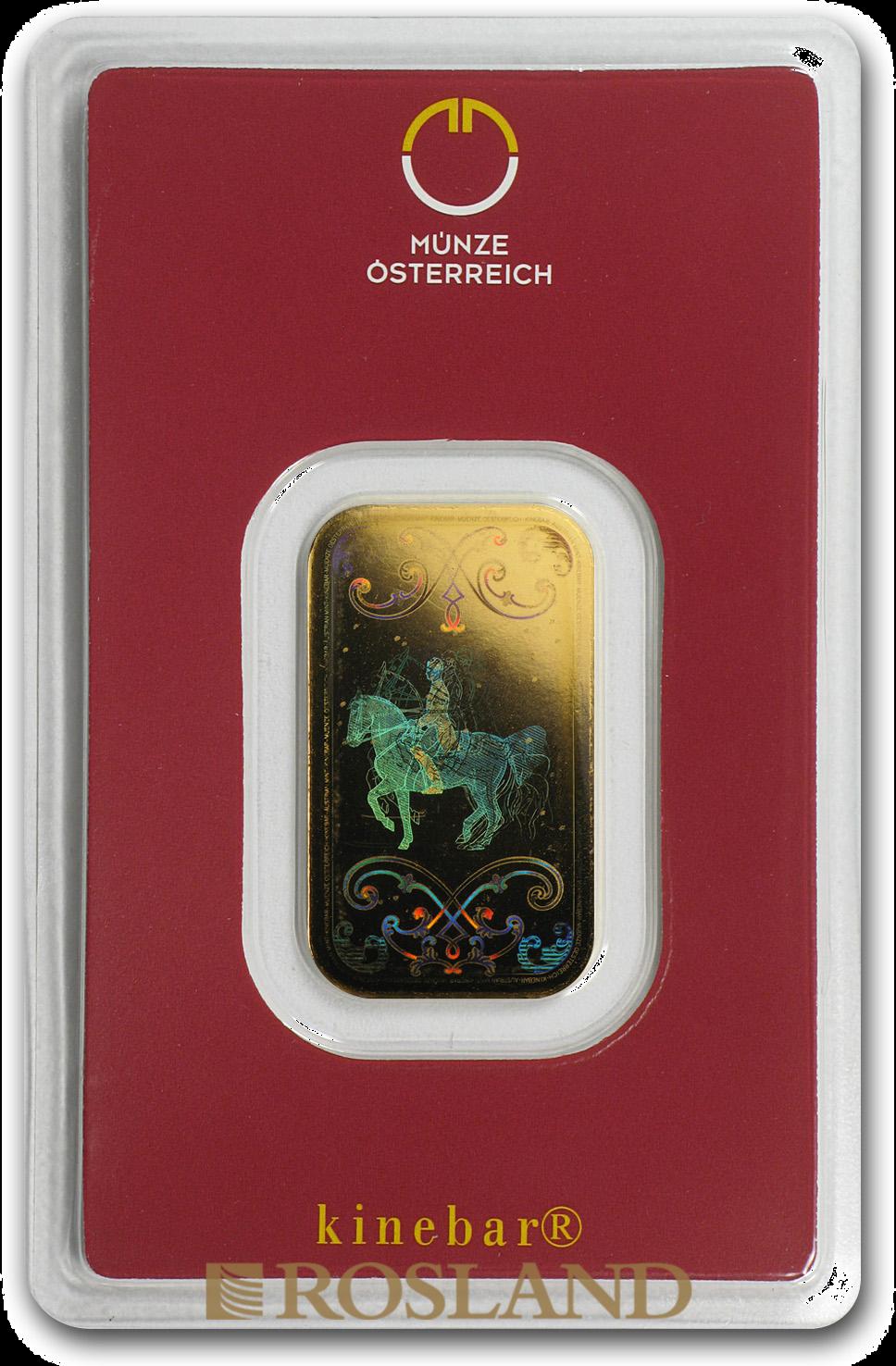 10 Gramm Goldbarren Münze Österreich Kinebar®