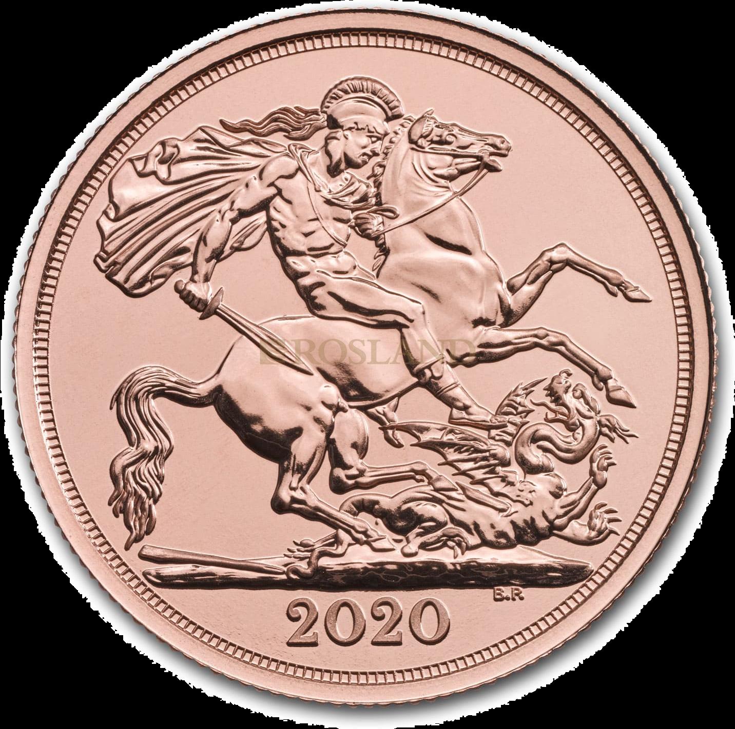 2 Sovereign Goldmünze Großbritannien 2020