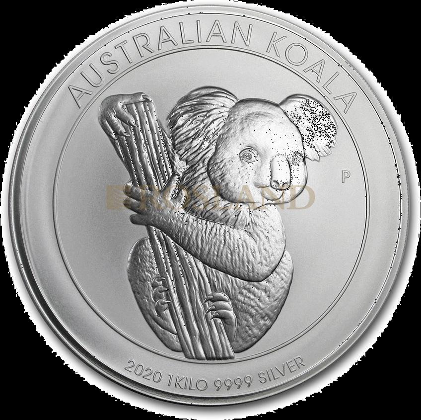 1 Kilogramm Silbermünze Koala 2020