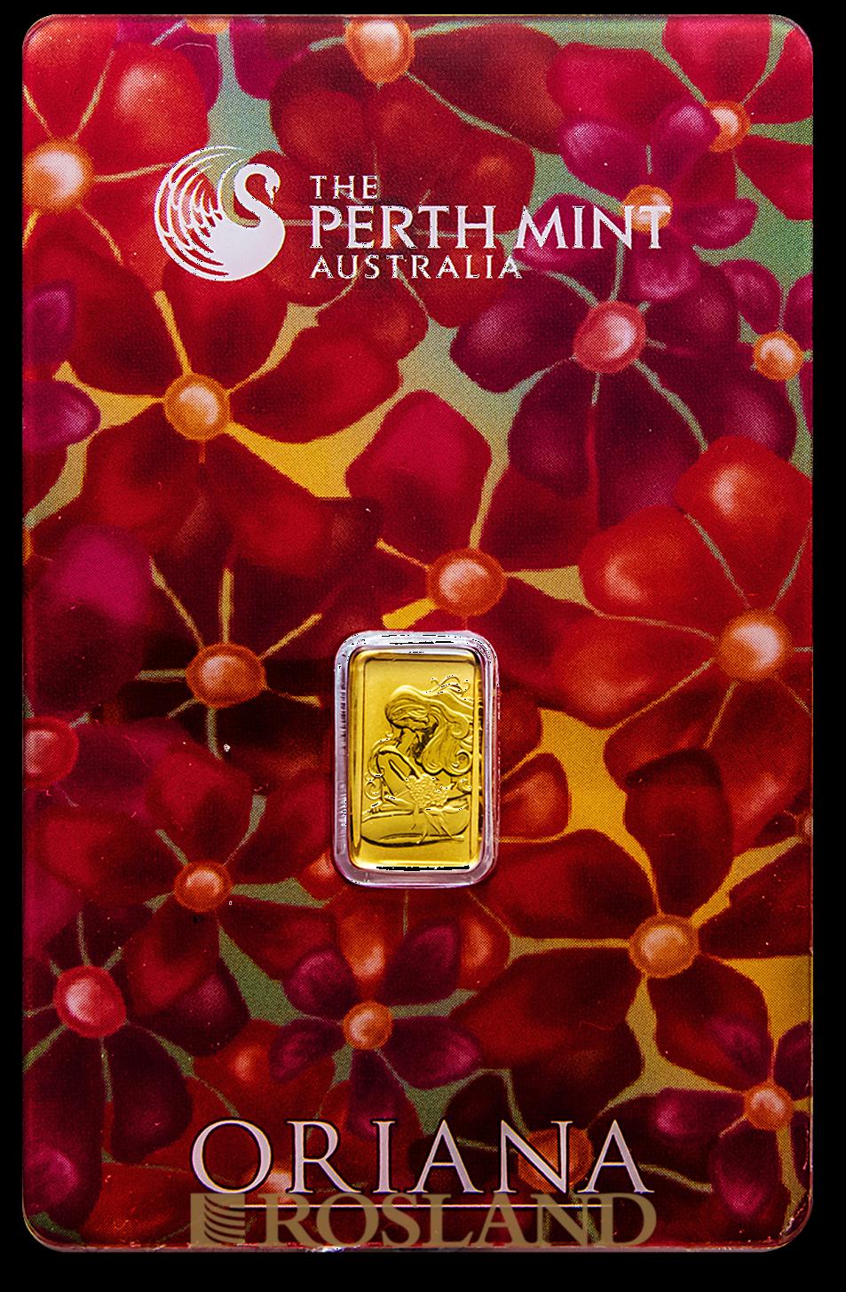 1 Gramm Goldbarren Perth Mint Oriana